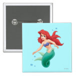 Ariel with Bubbles Buttons
