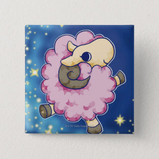 Aries 15 Cm Square Badge