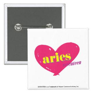 Aries 15 Cm Square Badge