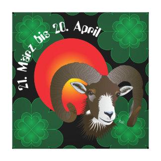 Aries 21. March until 20 April canvas Canvas Prints