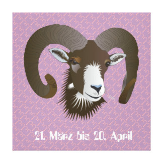 Aries 21. March until 20 April canvas Gallery Wrapped Canvas