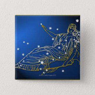 Aries 2 15 cm square badge