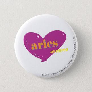 Aries 2 6 cm round badge