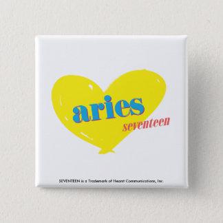 Aries 3 15 cm square badge