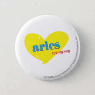 Aries 3 6 cm round badge