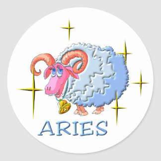 Aries 3 (stars) classic round sticker