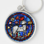 Aries 6 Astrology - Gothic Stained Glass Windows - Key Chains
