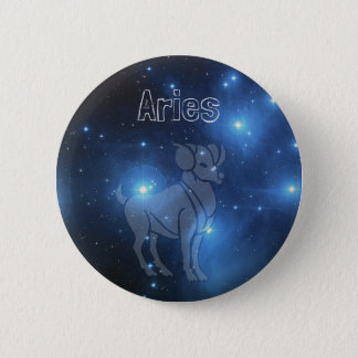 Aries 6 Cm Round Badge