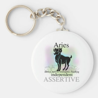 Aries About You Basic Round Button Key Ring