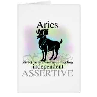Aries About You Card
