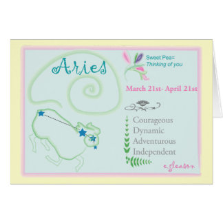 Aries April Greeting Card
