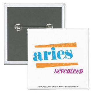 Aries Aqua 15 Cm Square Badge