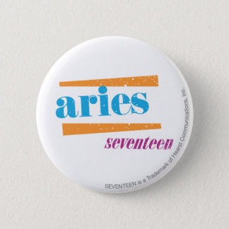 Aries Aqua 6 Cm Round Badge