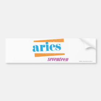 Aries Aqua Bumper Sticker