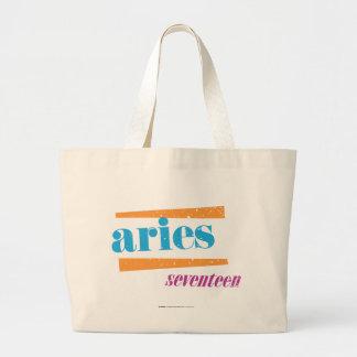 Aries Aqua Large Tote Bag