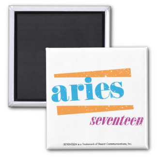 Aries Aqua Square Magnet