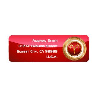 Aries Astrological Sign Return Address Label