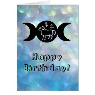 Aries astrology sun sign birthday card
