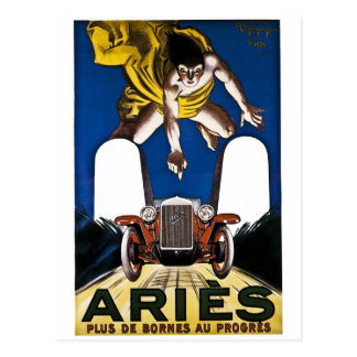Aries Automobile - Vintage French Advertisement Postcard
