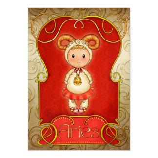 Aries Birthday 2 - SRF 13 Cm X 18 Cm Invitation Card