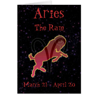 Aries Birthday card