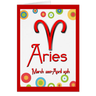 Aries Birthday-Colorful Circles Card