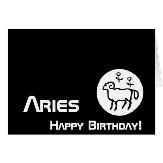 Aries, Birthday!-Customize Greeting Card