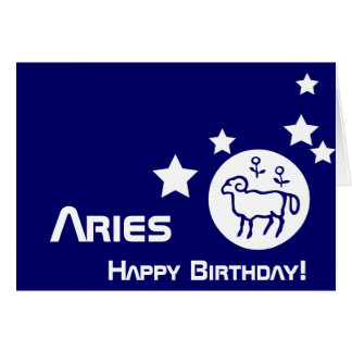 Aries, Birthday!-Customize Greeting Card