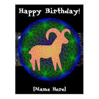 Aries Birthday Postcard