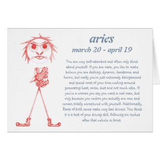 Aries [ - BitchScope - ] Birthday Card Greeting Card