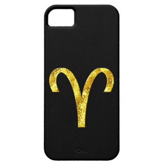 Aries Black Gold Zodiac Sign iPhone 5 Cases