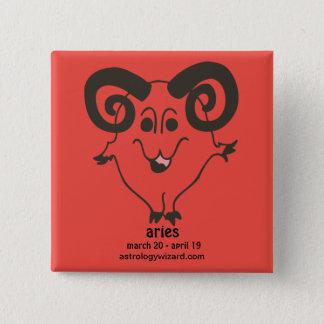 Aries Button/Badge 15 Cm Square Badge