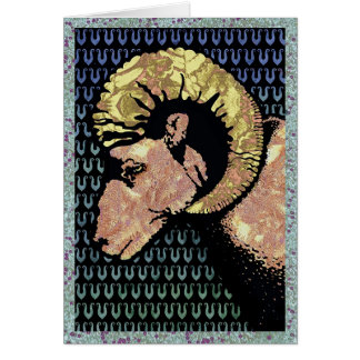 Aries (card) greeting card