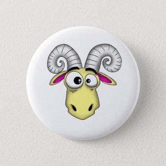 Aries Cartoon 6 Cm Round Badge