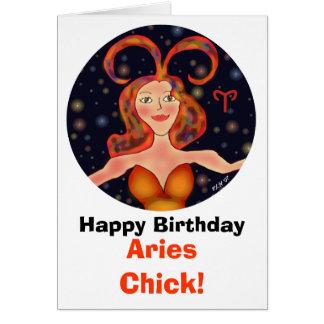 Aries Chick Birthday Card