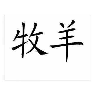 Aries Chinese Symbol Postcard