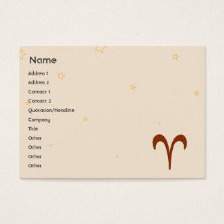 Aries - Chubby Business Card