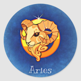 Aries Classic Round Sticker