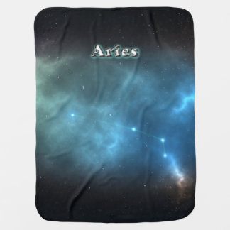 Aries constellation baby blanket