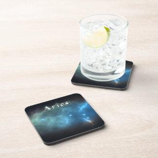 Aries constellation beverage coasters