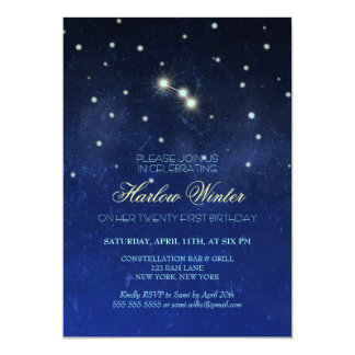 Aries Constellation Birthday Party 13 Cm X 18 Cm Invitation Card