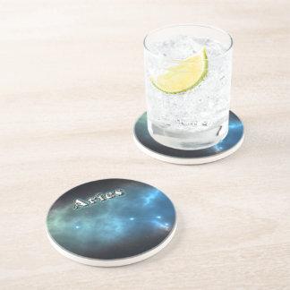 Aries constellation sandstone coaster