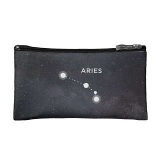 Aries Constellation Zodiac Sign Cosmetic Bag