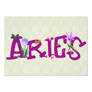 Aries Flowers 13 Cm X 18 Cm Invitation Card