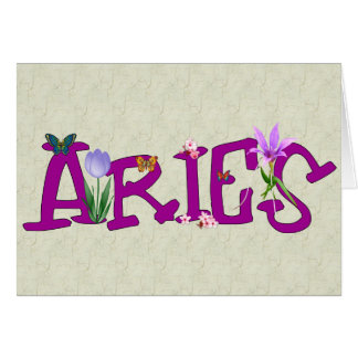 Aries Flowers Cards