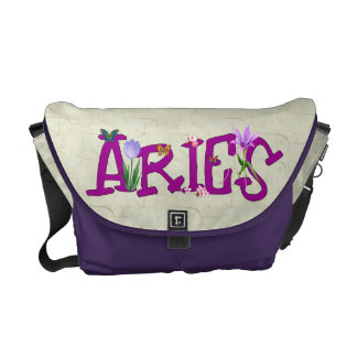 Aries Flowers Courier Bag