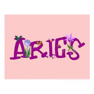 Aries Flowers Postcard