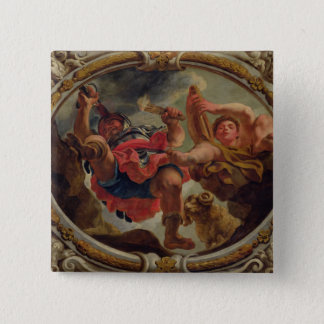 Aries, from the Signs of the Zodiac 15 Cm Square Badge