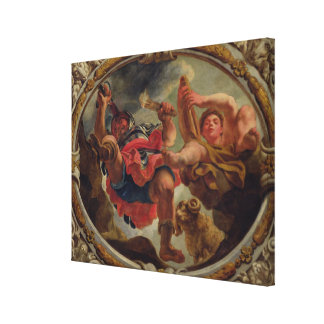 Aries, from the Signs of the Zodiac Stretched Canvas Print