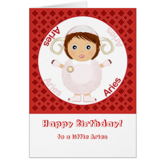Aries Girl - Happy Birthday Greeting Card
